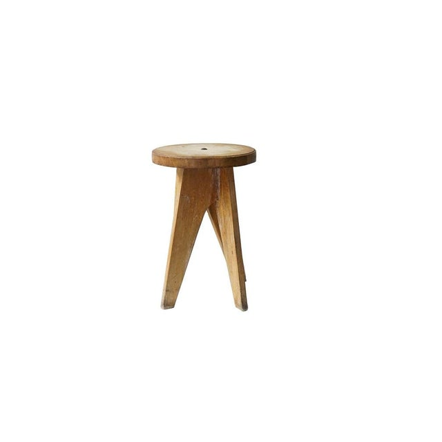 Wood Vintage Wooden Table/Stool For Sale - Image 7 of 7