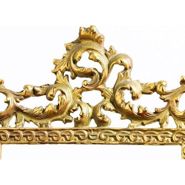 Hollywood Regency Elegant Golden Picture Frame For Sale - Image 3 of 6
