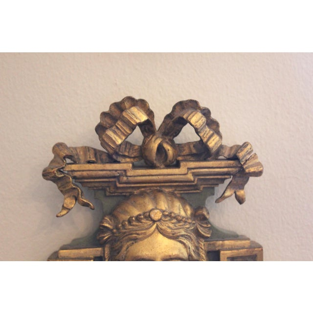 20th Century Neoclassical Wooden Double-Arm Sconce For Sale - Image 4 of 6