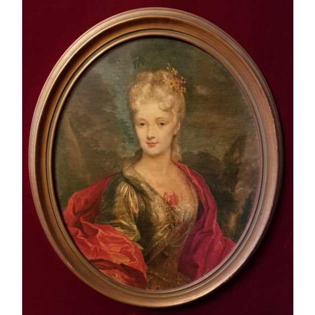 Victorian Lady Matted Red Velvet Framed Portrait Print For Sale - Image 6 of 7