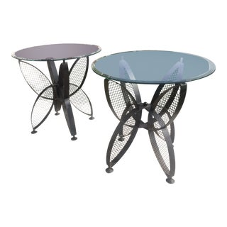 Maurizio Tempestrini for Salterini Butterfly Side Tables - a Pair