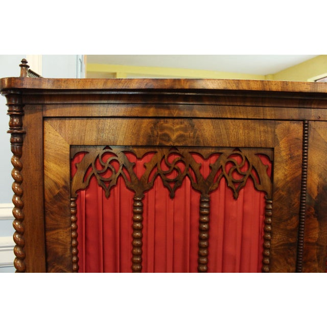 Mid 19th Century Mid 19th Century Vintage German Gothic Revival Cabinet For Sale - Image 5 of 9