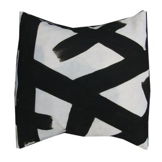 Black Mudcloth Pillow Cover For Sale