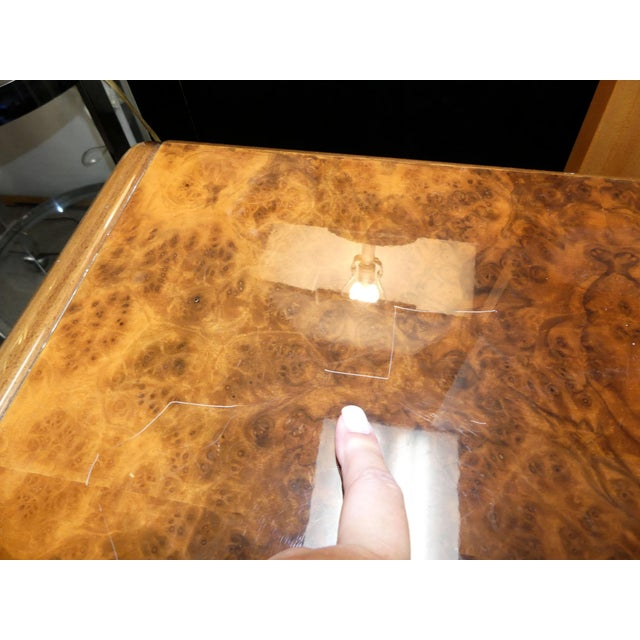 Brown Vintage Roche Bobois Lacquered Burl Wood Credenza For Sale - Image 8 of 12
