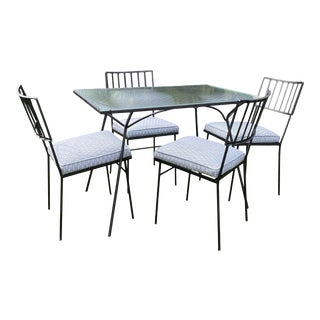 Mid Century Atomic Reupholstered & Restored Patio Set For Sale