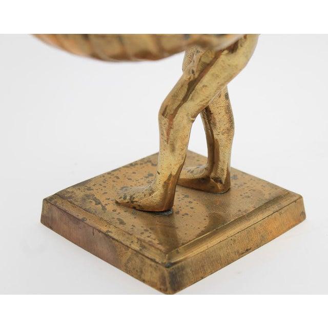 Mid-Century Brass Monkey Figurine Card Holder For Sale In Atlanta - Image 6 of 10