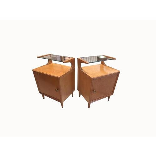 Sienna Vintage Mid-Century Nightstands, France, a Pair For Sale - Image 8 of 8