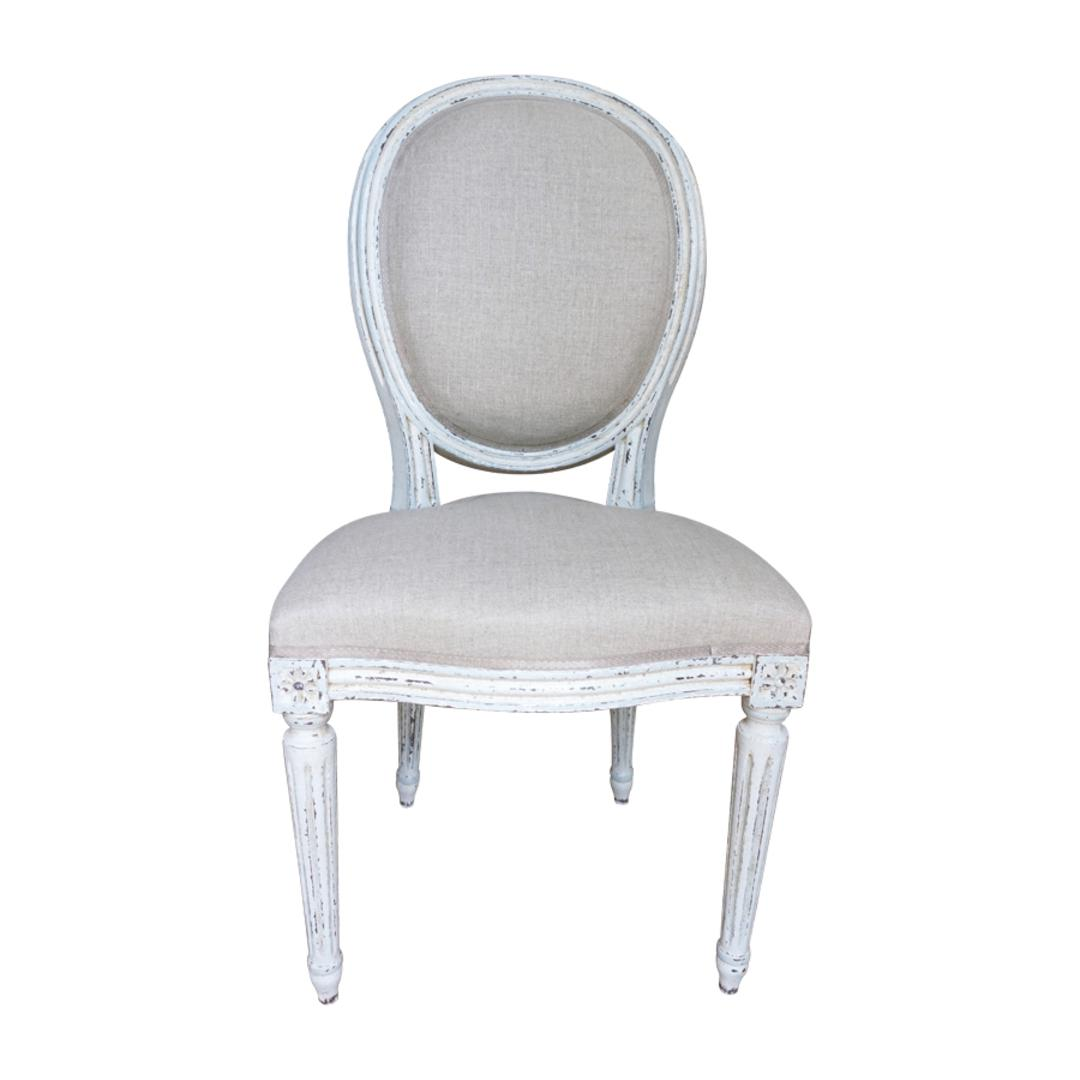 Set Of Eight Louis XVI Style Dining Chairs   Image 11 Of 11