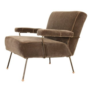 Mid Century Dan Johnson for Pacific Iron Frame Lounge Chair For Sale