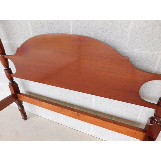 Suters Chippendale Style Mahogany Tester Frame Full Size Poster Bed For Sale - Image 10 of 13