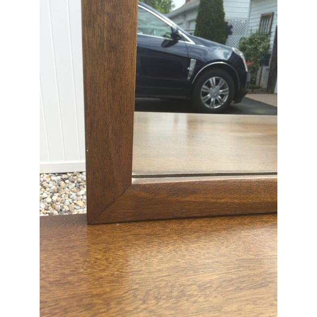 Brown Red Lion Co Mid-Century Dresser & Mirror For Sale - Image 8 of 9