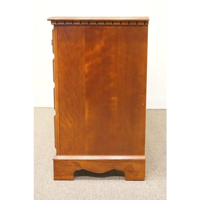 Late 20th Century Broyhill Cherry Triple Door Dresser For Sale - Image 10 of 13