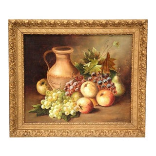 20th C. French Still Life Paintings - a Pair For Sale
