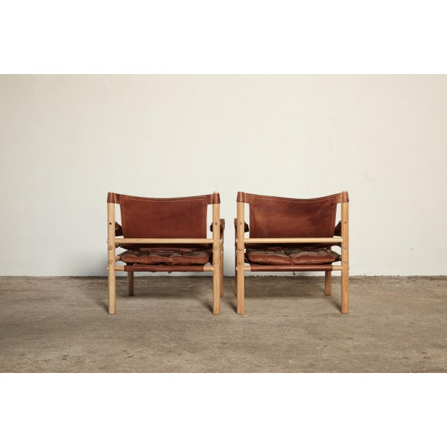 Pair of Arne Norell Sirocco Safari Chairs, Norell Mobel, Sweden, 1970s For Sale - Image 6 of 13