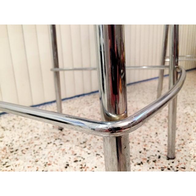 Italian Chrome Bar Stools - Set of 3 For Sale - Image 9 of 13