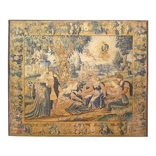 Antique 18th Century Flemish Mythological Tapestry, With the Greek Deity Apollo For Sale