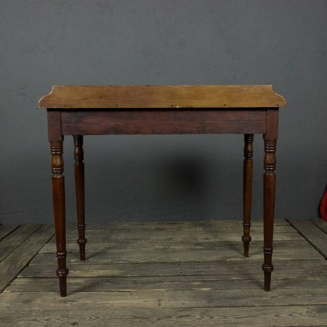 Wood French 19th Century Mahogany Desk With Two Drawers For Sale - Image 7 of 11