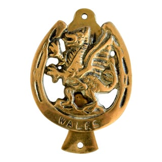 Brass Dragon Door Knocker For Sale