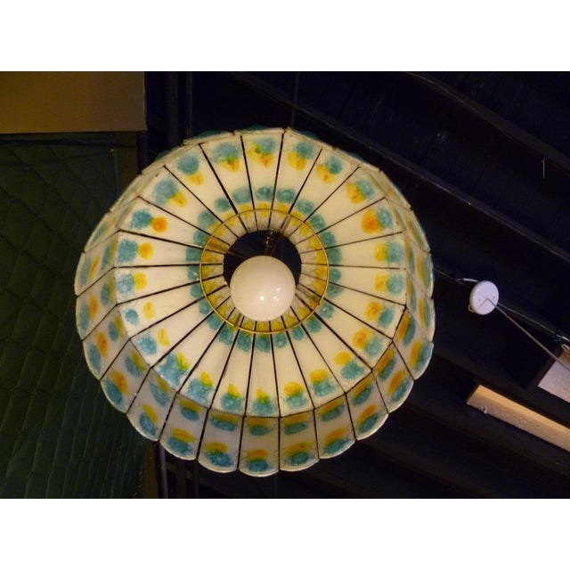Art Glass 1960s Mid-Century Modern Fused Art Glass Chandelier For Sale - Image 7 of 8