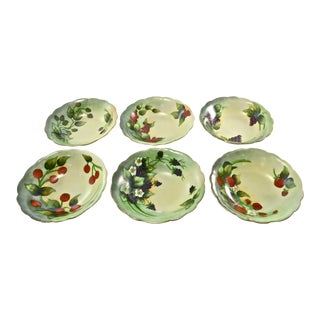 1910s Limoges Hand-Painted Bowls - Set of 6