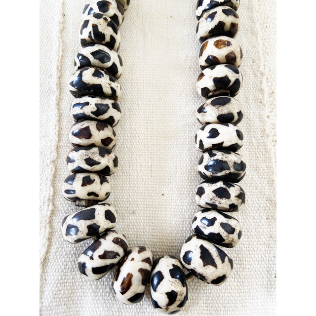 Black African Jumbo Bone Trading Beads For Sale - Image 8 of 10