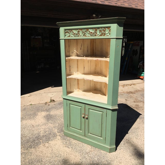 Green Reclaimed Farmhouse Hutch - Image 2 of 7