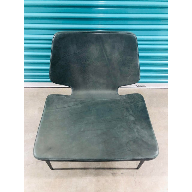 2010s Modern Roberto Lazzeroni of Lema Italian Leather Lounge Chair For Sale - Image 5 of 7