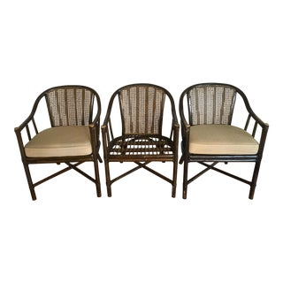 McGuire Rattan Cane Chairs - Set of 3