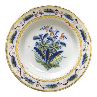 Colorful Dutch Delft Plate #4 For Sale