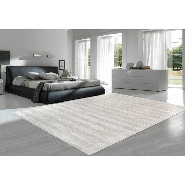 Contemporary Pasargad Textured Transitiona Bamboo Silk Area Rug - 5' X 8' For Sale - Image 3 of 3
