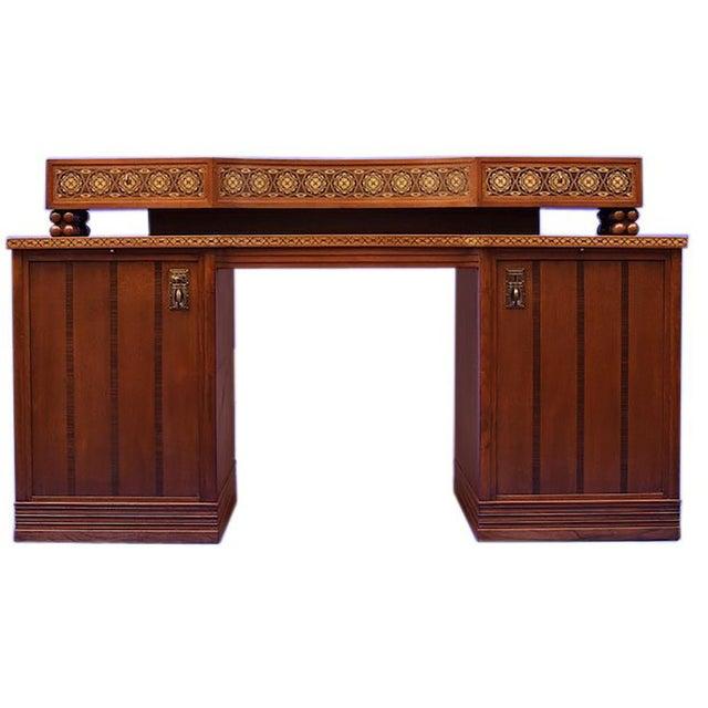 Animal Skin Jugendstil Desk after Olbrich For Sale - Image 7 of 7