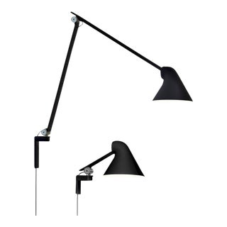 Oki Sato NJP Black Large Wall Light for Louis Poulsen