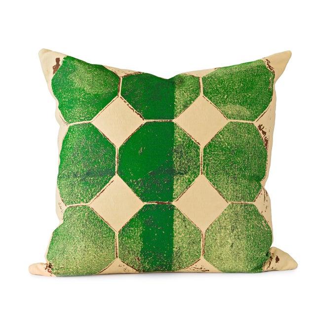 Green Octagon Throw Pillow - Image 1 of 4