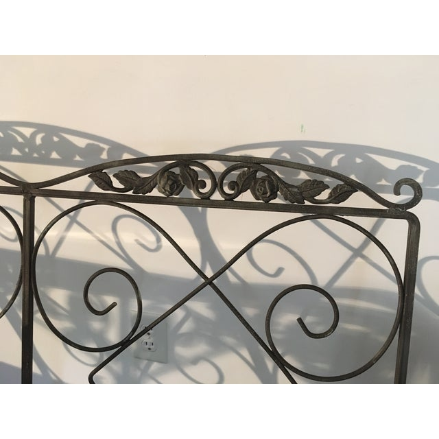 Mid 20th Century 1960 Vintage Wrought Iron Patio Furniture - Set of 7 For Sale - Image 5 of 10