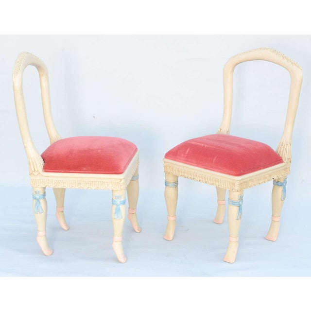 French Set of Four Ballerina Side Chairs For Sale - Image 3 of 11