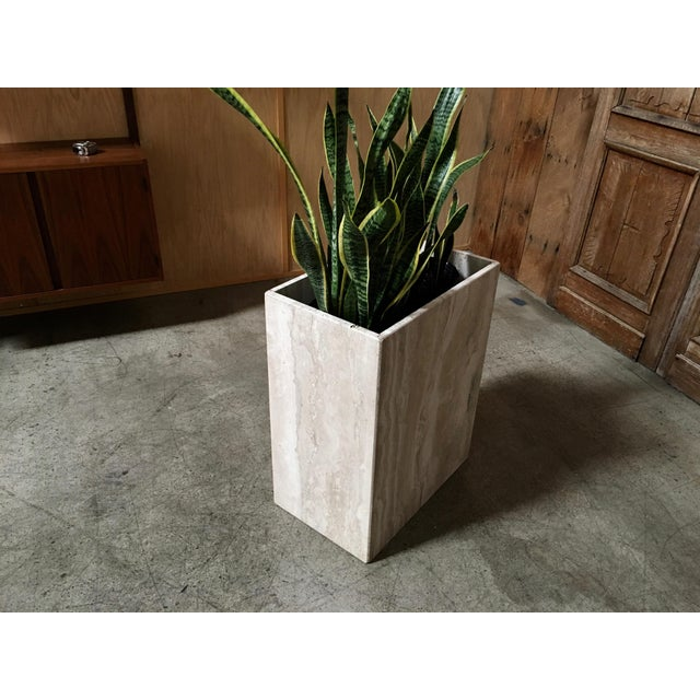 Mid 20th Century 20th Century Modern Travertine Marble Planter For Sale - Image 5 of 11
