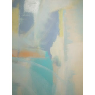 Contemporary Abstract Lavender, Yellow, Turquoise, Tangerine Painting by Martha Spak For Sale