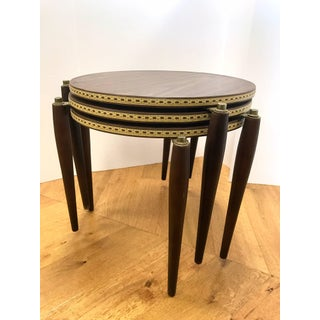 Midcentury Round Stacking Nesting Tables Preview