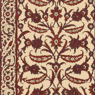 Sample - Schumacher Topkapi Wallpaper in Pomegranate For Sale