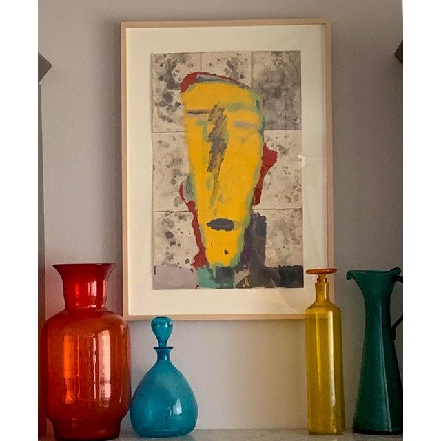 Blenko Tangerine Orange Floor Vase Scarce Oversized - # 7048 For Sale - Image 12 of 13