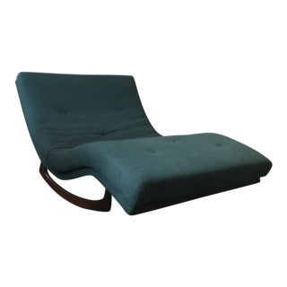 Vintage Mid Century Adrian Pearsall Chaise Rocker For Sale