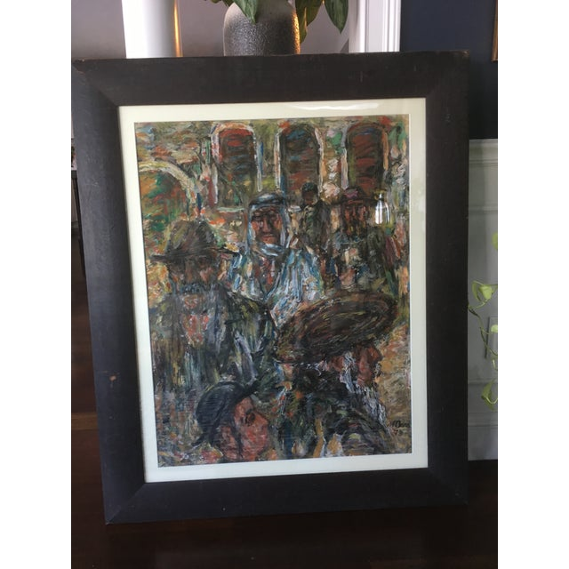 1970s Vintage Abstract Mathias Barz Original Oil Painting For Sale - Image 9 of 13