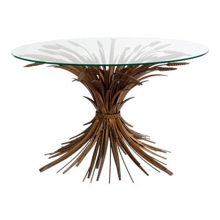 Sheaf of Wheat Side Table Cocktail Table For Sale