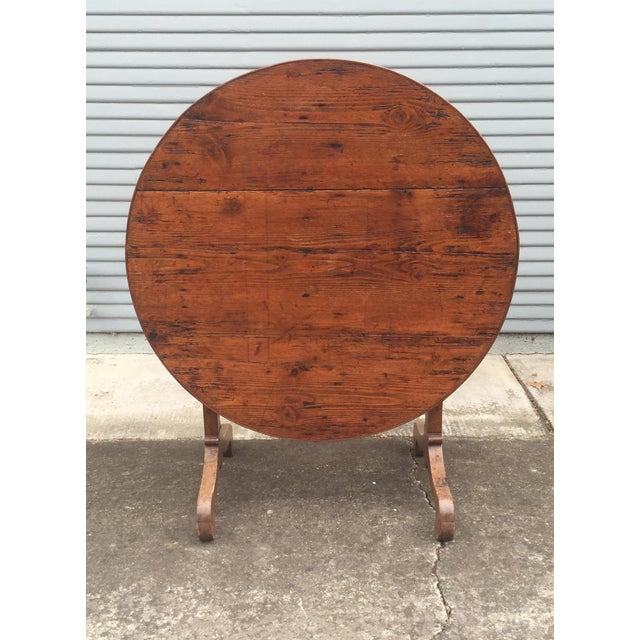 French Antique Winetasting Cellar Table - Image 2 of 5