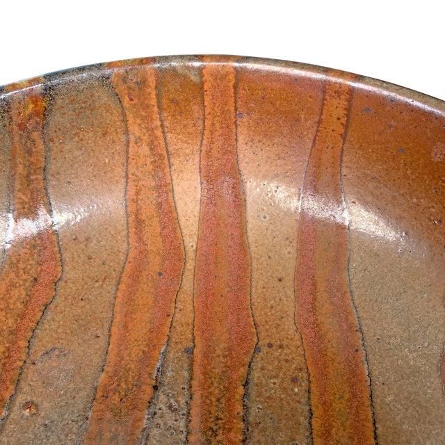 Burnt Orange Vintage Studio Pottery Bowl For Sale - Image 8 of 12