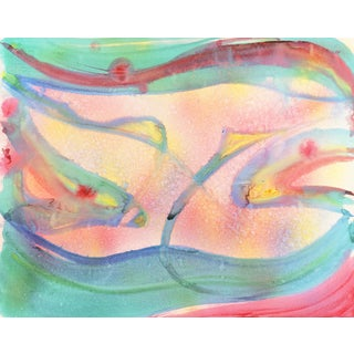 'Rainbow Abstract' by Hamid Hourian, 1985; Abstract Expressionist Watercolor, San Francisco Bay Area For Sale