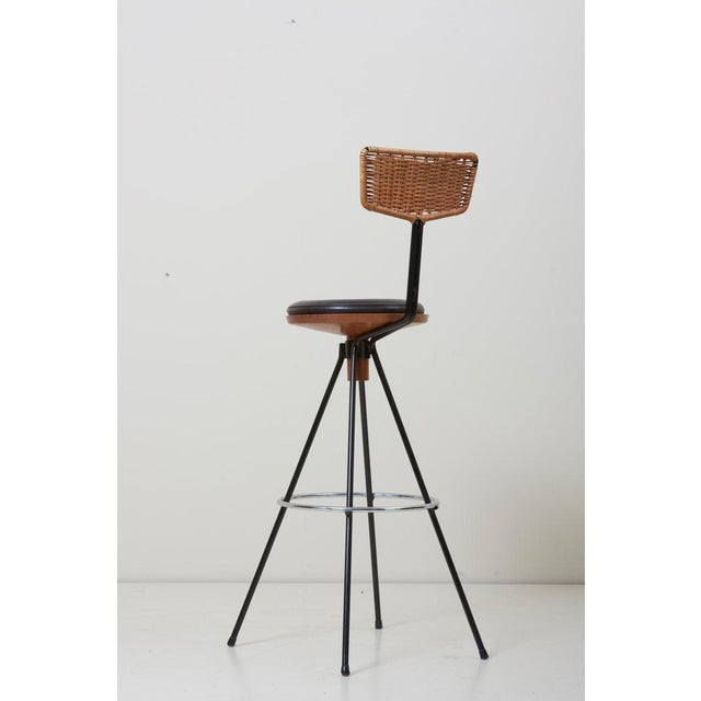 Behr House Bar and Four Bar Stools by Prof. Herta-Maria Witzemann for Erwin Behr For Sale - Image 4 of 13
