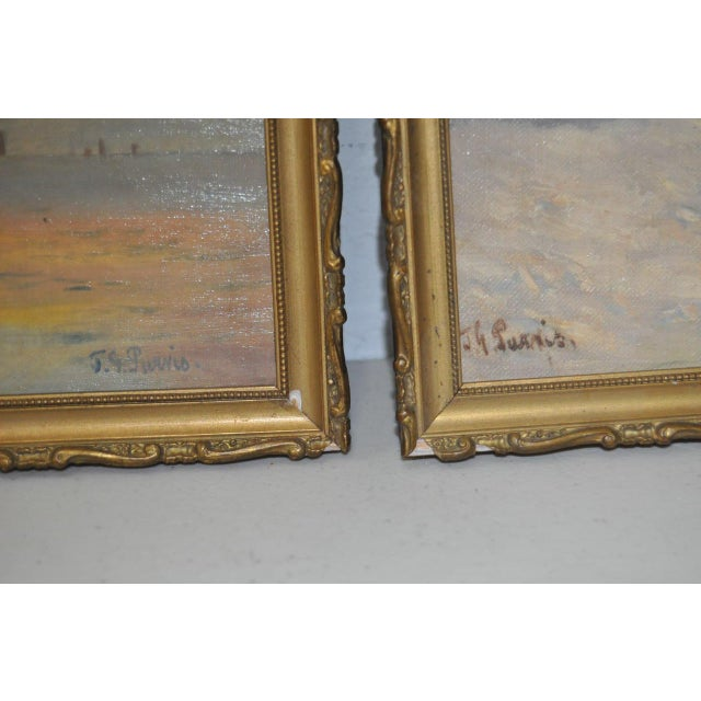 Early 20th Century Maritime Paintings by Thomas G. Purvis - a Pair For Sale - Image 4 of 8