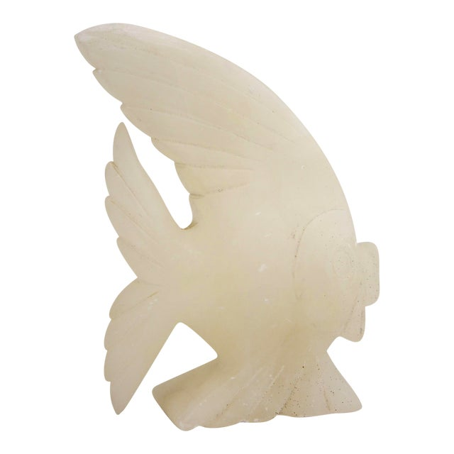 Carved Italian Marble Fish Sculpture - Image 1 of 6