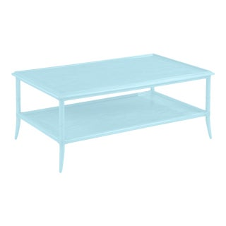 Celerie Kemble for Casa Cosima Paxton Rectangular Cocktail Table, Candle Light For Sale